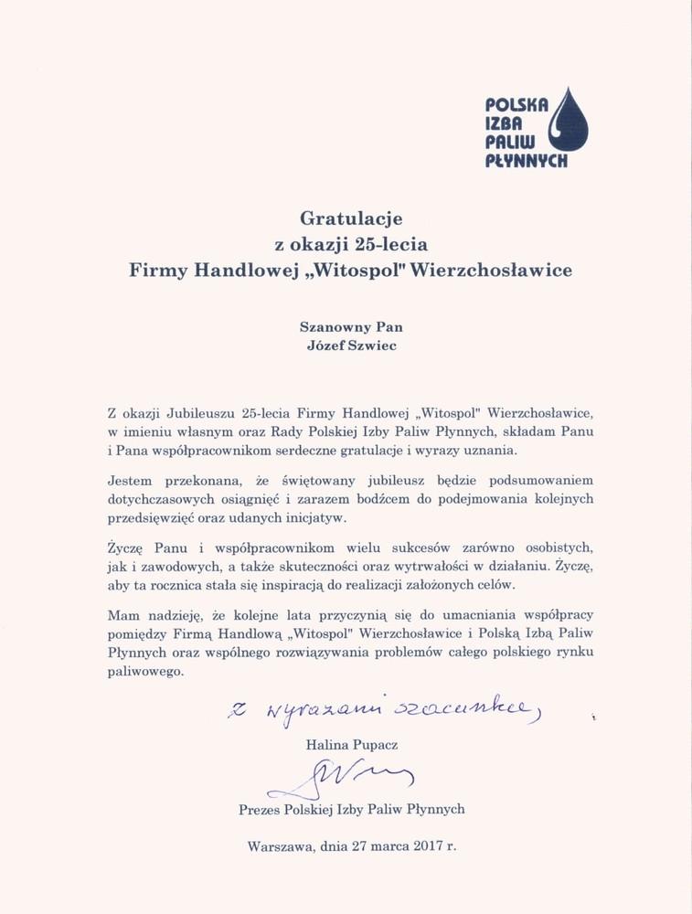 Witospol 25 Lecie Firmy Handlowej Witospol